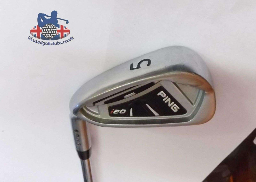 Left Handed Ping i20 Black Dot 5 Iron Rifle 5.5 Steel Shaft Ping Grip