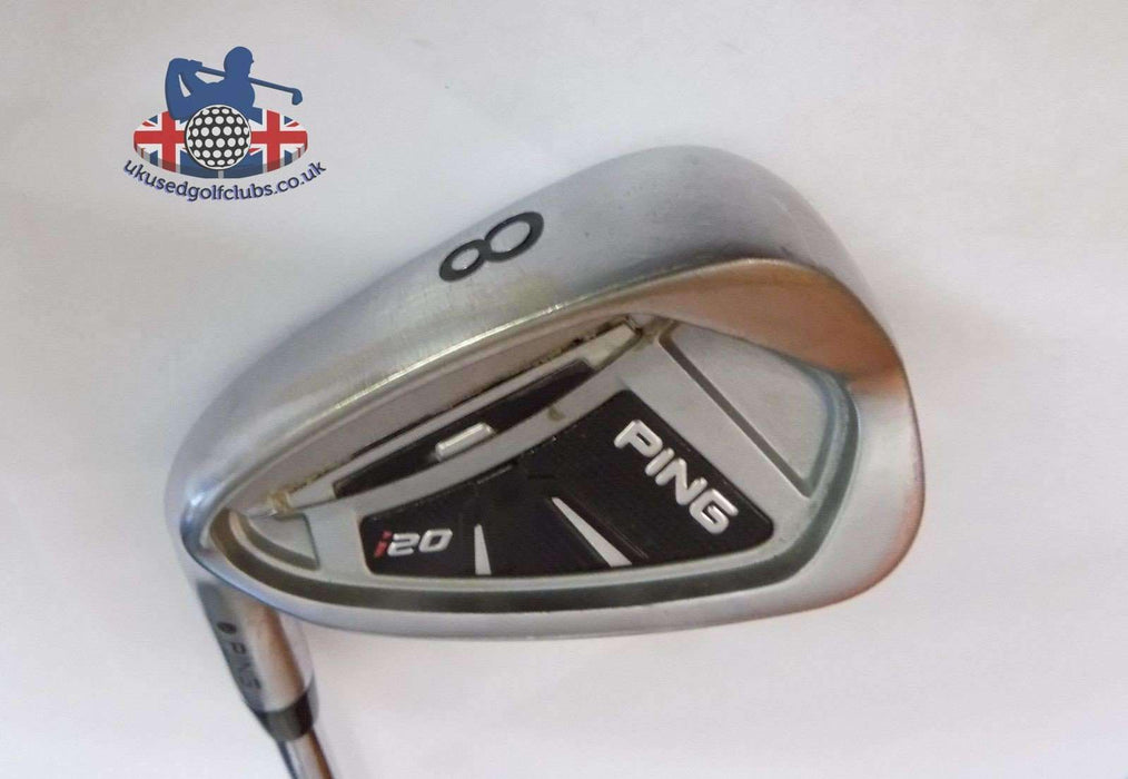 Left Handed Ping i20 Black Dot 8 Iron Rifle 5.5 Steel Shaft Ping Grip