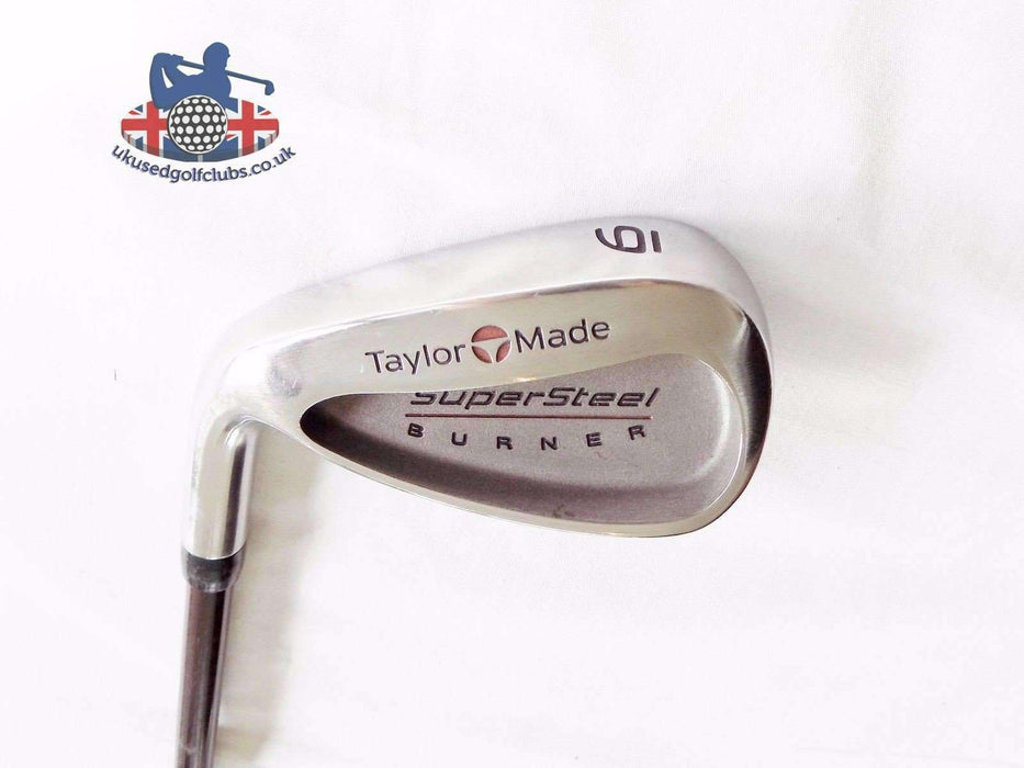 Left Handed Polished TaylorMade Supersteel Burner 6 Iron S-90 Stiff Graphite Shaft TaylorMade Grip