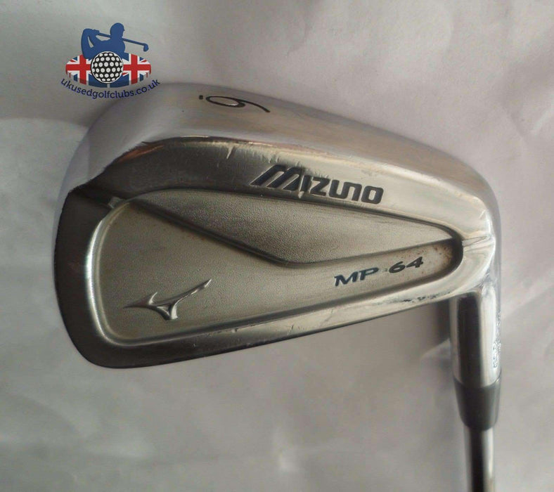 Mizuno MP64 Grain Flow Forged 6 Iron S300 Stiff Steel Shaft, Golf Pride Grip