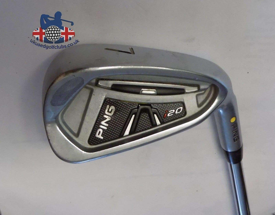 Ping i20 Yellow Dot 7 Iron True Temper S300 Stiff Steel Shaft Ping Grip