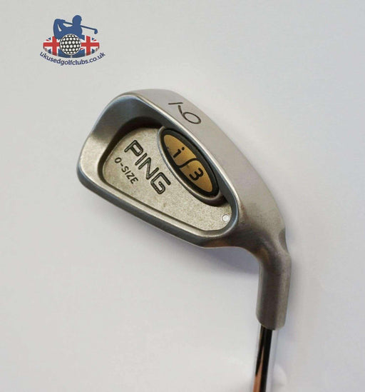 Ping i3 O Size Silver Dot 9 Iron JZ Stiff Steel Shaft Golf Pride Grip