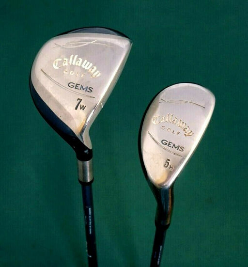 Ladies Set 2 x Callaway GEMS 7 Wood & 5 Hybrid