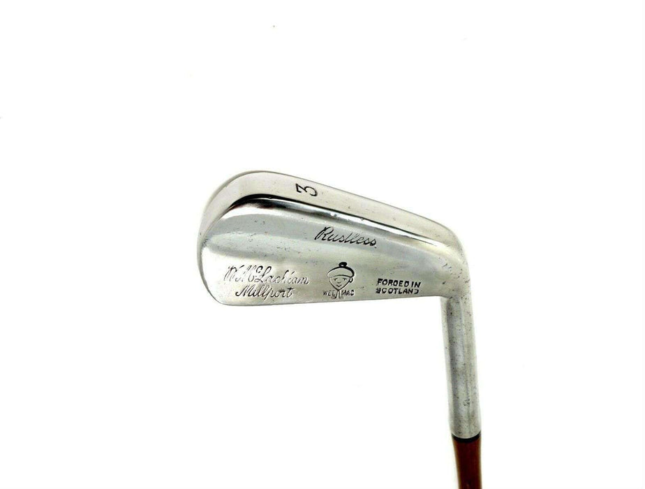 Polished Vintage Wee Mac Rustless 3 Iron Coated Regular Steel Shaft