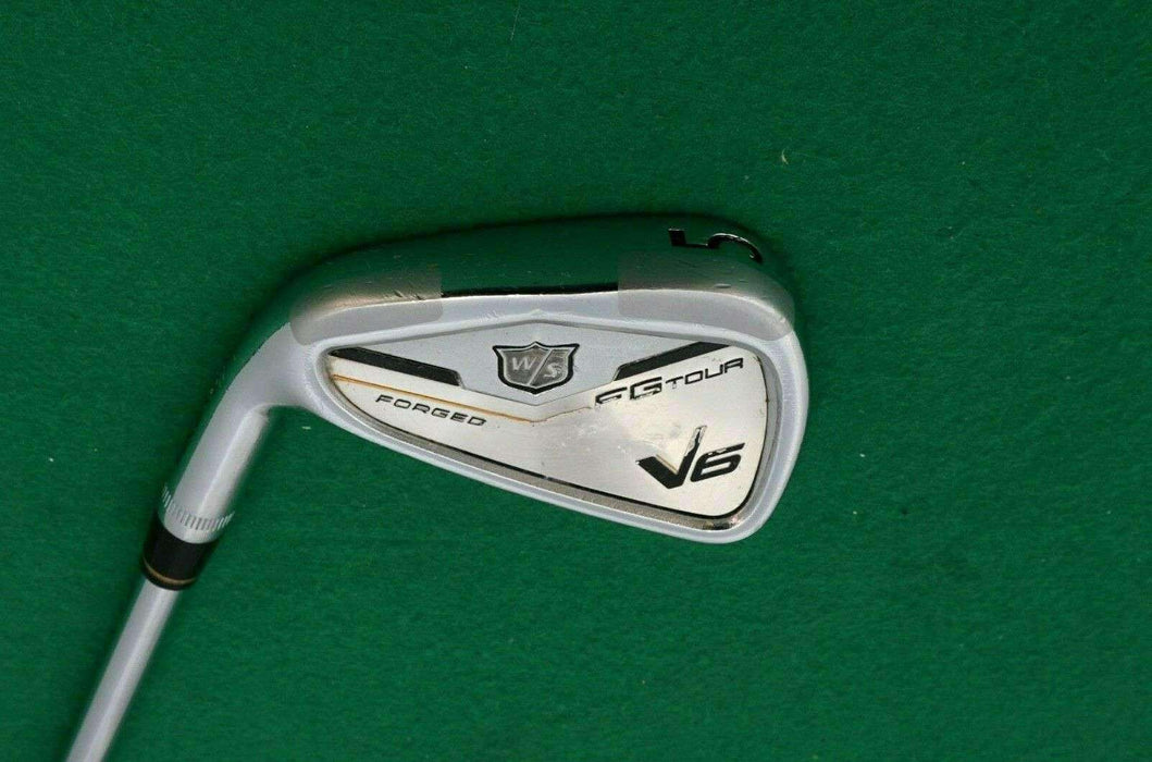 Left Handed Wilson V6 FG Tour Forged 5 Iron Stiff Steel Shaft Tour Fit Grip