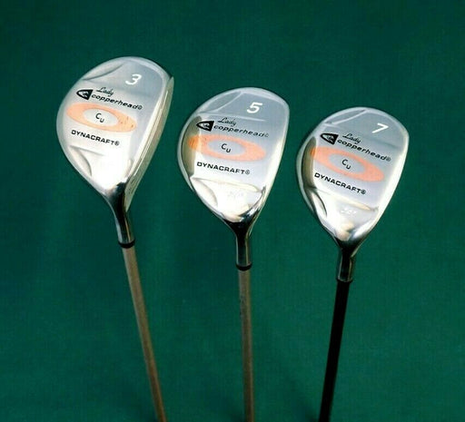 Ladies Vintage Set of 3 x Lady Copperhead Dynacraft 3, 5 & 7 Woods