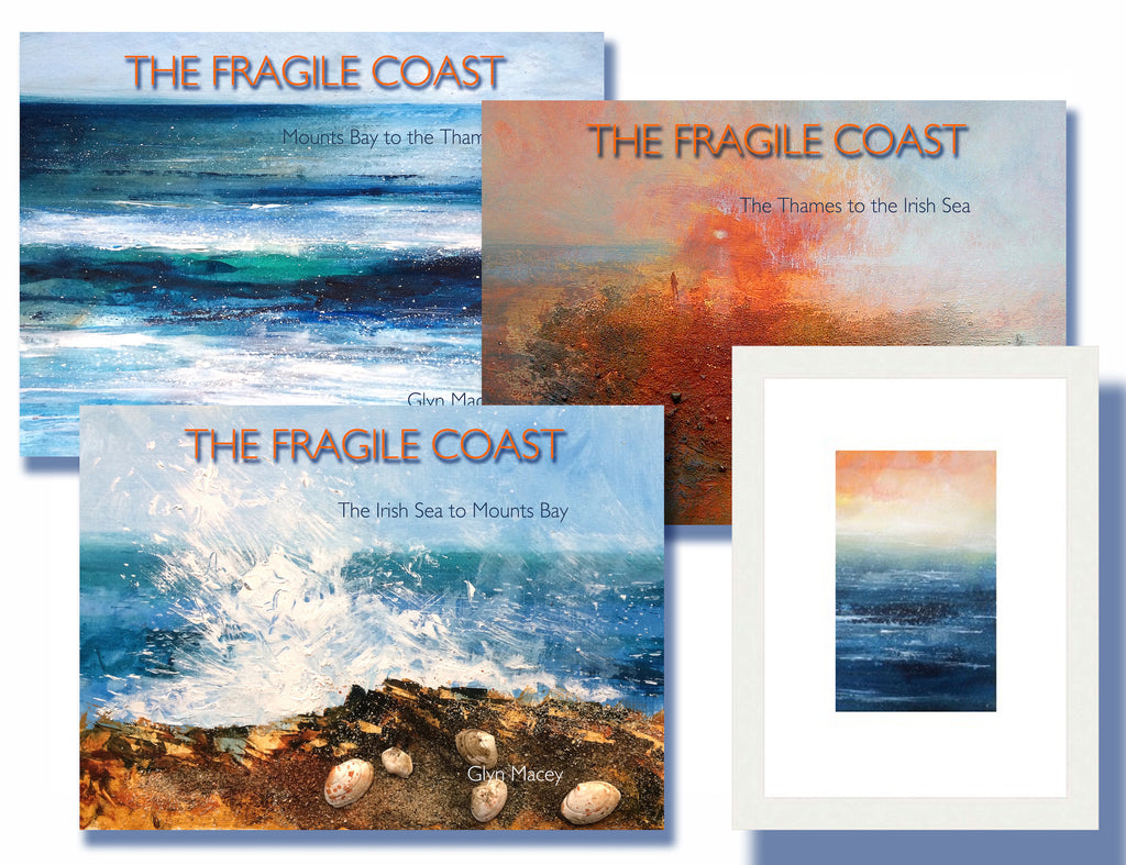 The Fragile Coast - Three book set with painting