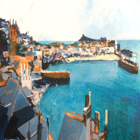 Emerald Harbour - St Ives Print