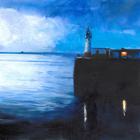 Lighthouse Dawn - Newlyn Print