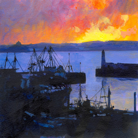 A Newlyn Sunrise Print