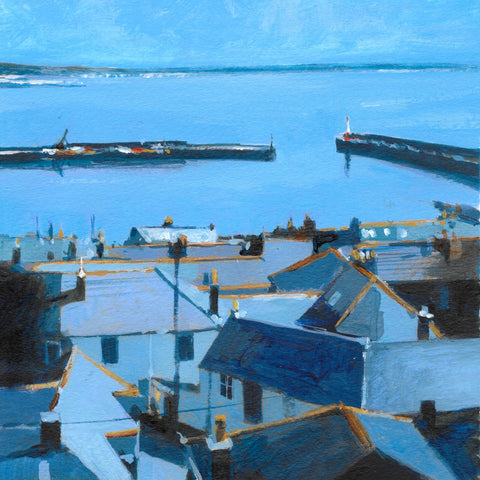 Over the Rooftops - Newlyn Print