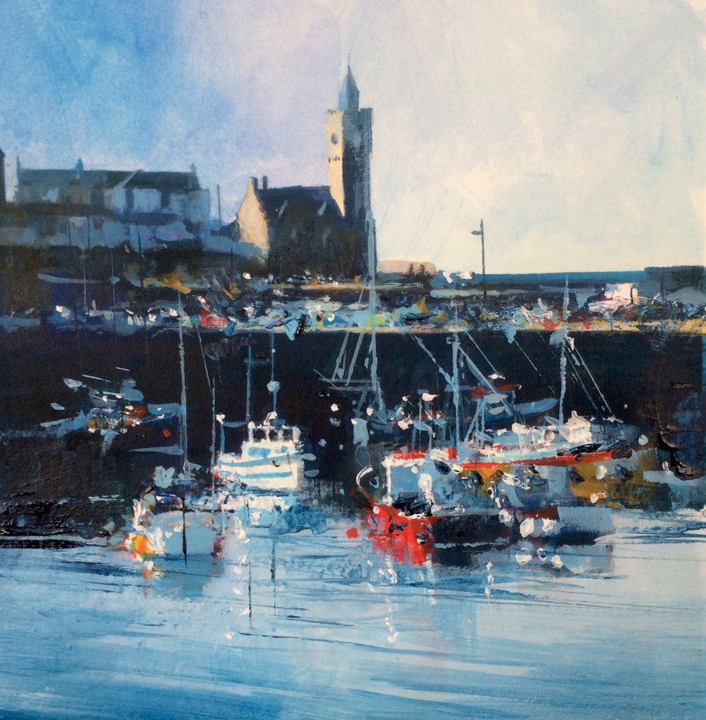 Busy Quay - Porthleven Print