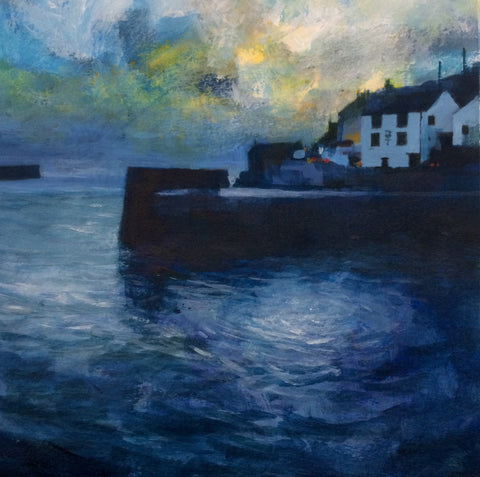Blue light - Porthleven Print