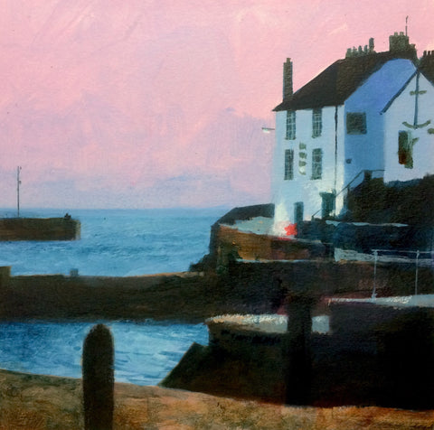 A Rosey Evening - Porthleven Print