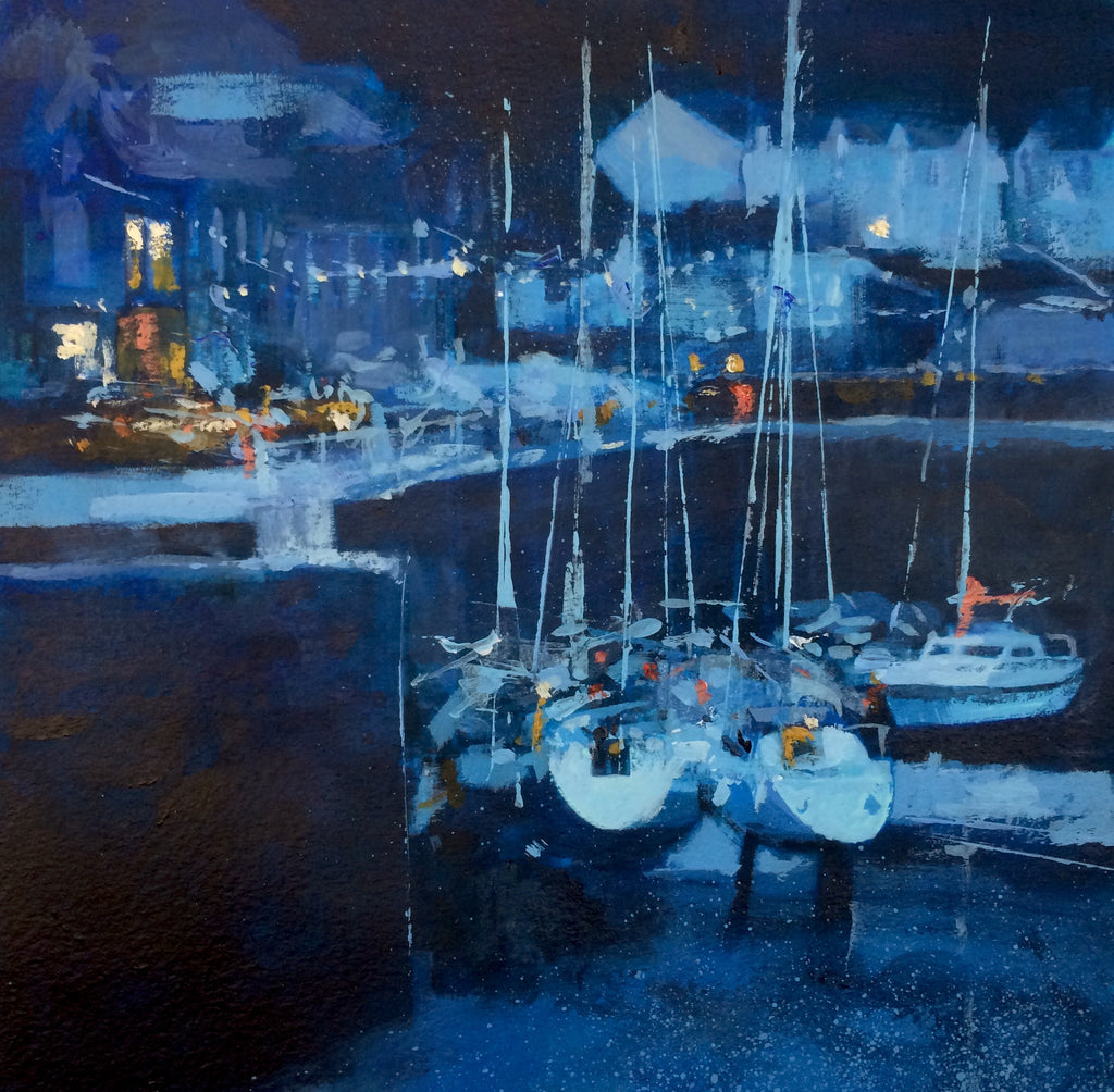 Yachts at rest - Porthleven Print