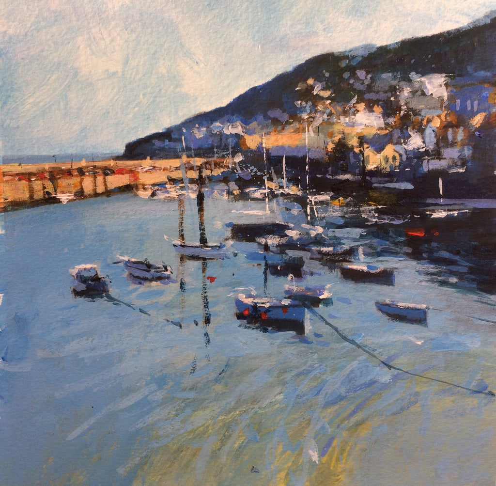 Teal light - Mousehole Print