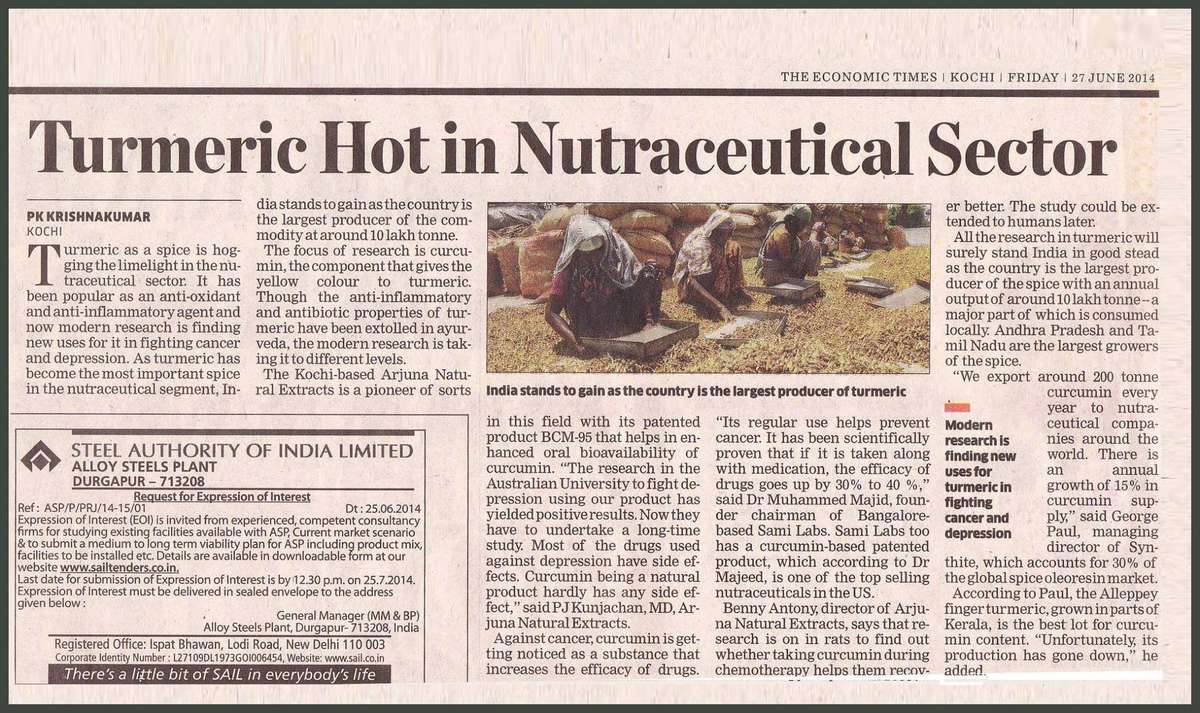 Turmeric in Nutraceutical Sector