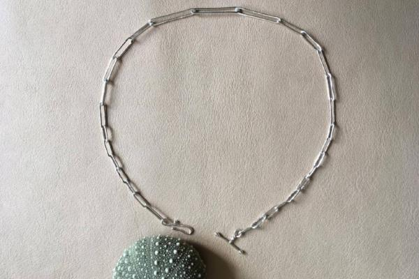 Silver liquified choker - EMBR jewellery