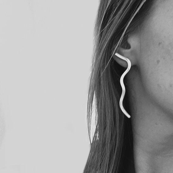 Silver figure earrings - EMBR jewellery