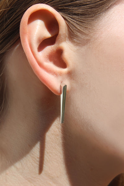 Silver axis studs - EMBR jewellery