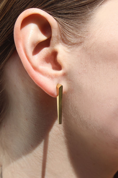 Gold axis studs - EMBR jewellery