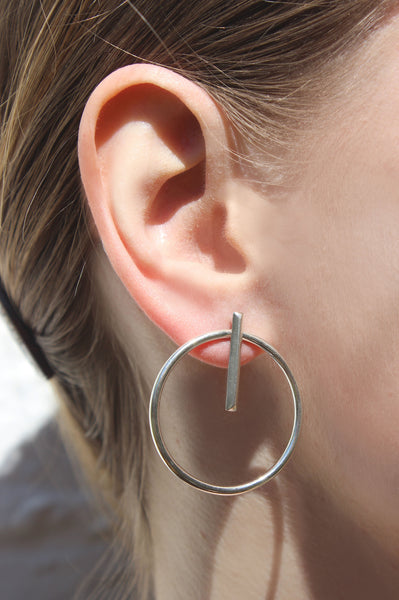 Silver substrate earrings - EMBR jewellery