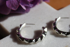 Silver oscillate hoops - EMBR jewellery
