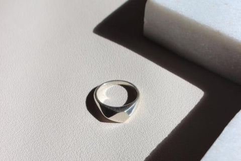 Silver facet ring - EMBR jewellery