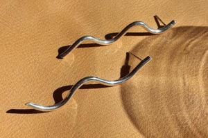 Silver wave earrings - EMBR jewellery