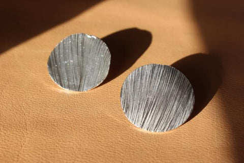 Silver tidal earrings - EMBR jewellery