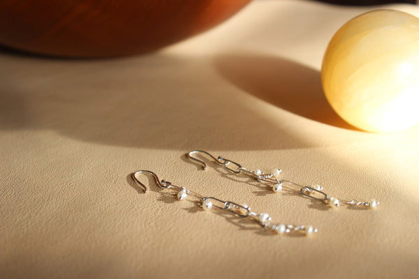 Silver neptune earrings - EMBR jewellery