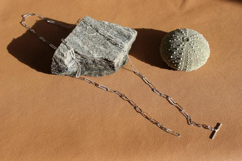 PRE ORDER  -  Delivery early December - Silver liquified lariat chain - EMBR jewellery