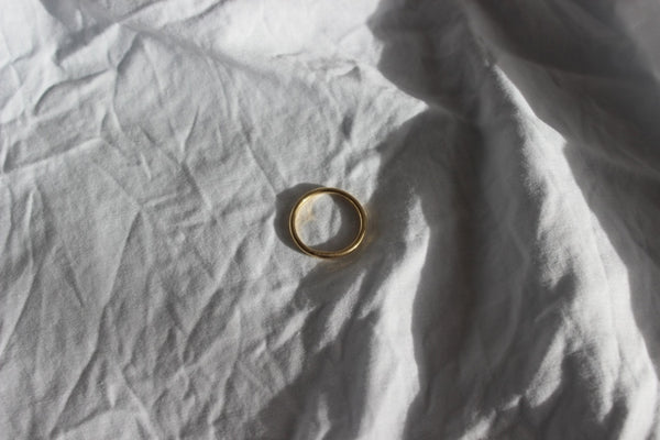 Gold plated Helios ring (1mm) - EMBR jewellery