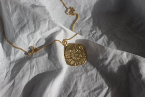 Gold midnight sun necklace long - EMBR jewellery