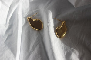 Gold waters edge earrings - EMBR jewellery