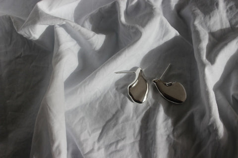 Silver waters edge earrings - EMBR jewellery