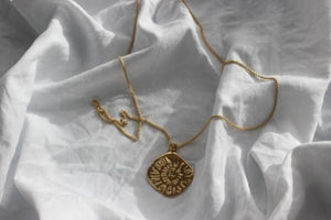 PRE ORDER  -  Delivery early December - Gold midnight sun necklace medium - EMBR jewellery