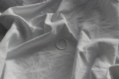 Silver half light ring (1mm) - EMBR jewellery