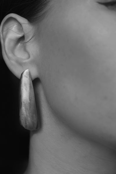 Gold third quarter earrings - EMBR jewellery