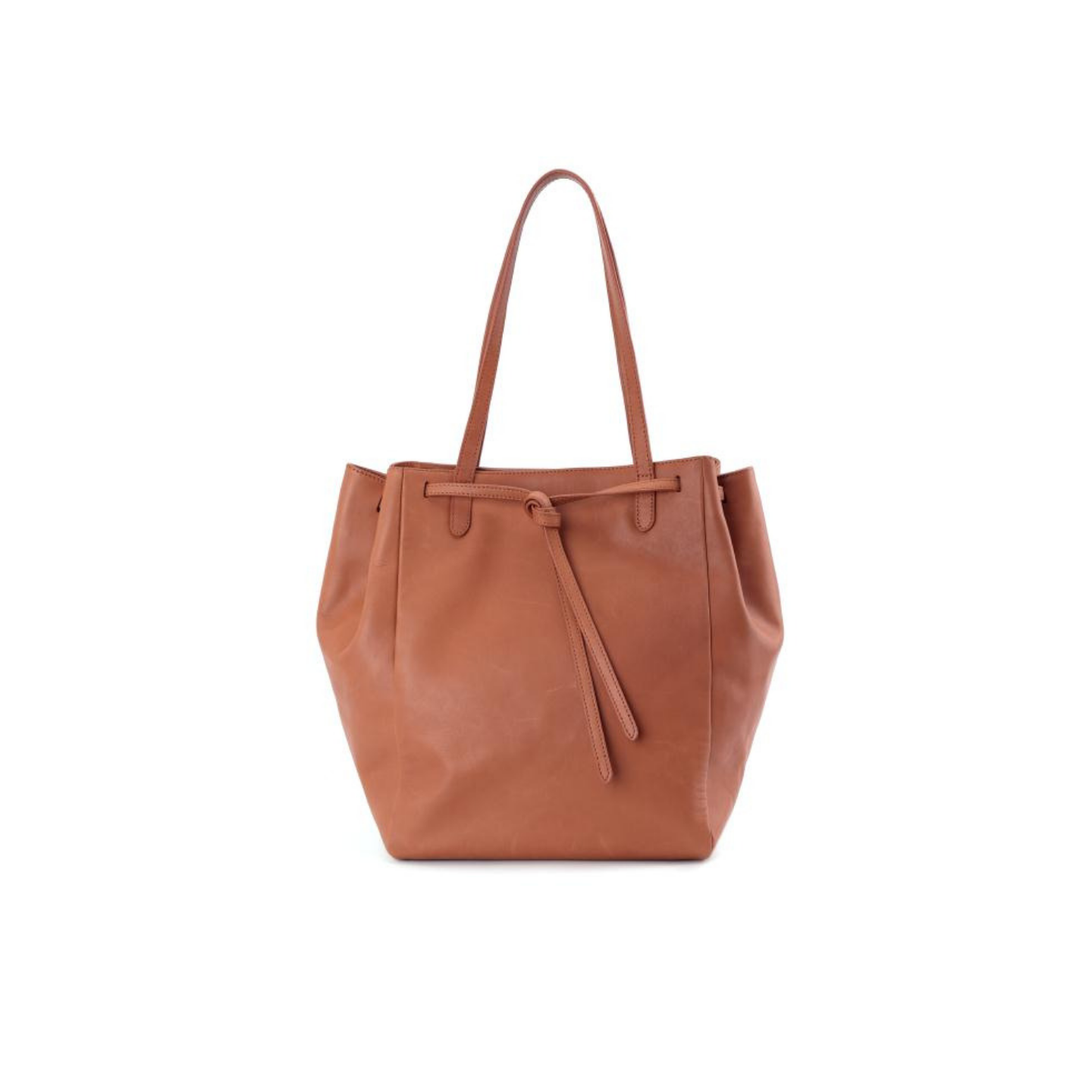 Nu Market Brown Leather Tote Bag