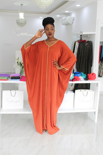 1 Bimpe Hand beaded Orange Kaftan
