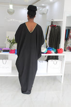 1 Bimpe Hand beaded Black Kaftan