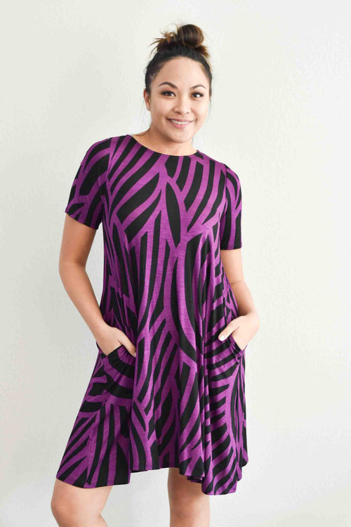 Curvy Road T-Shirt Dress (670PCRV)