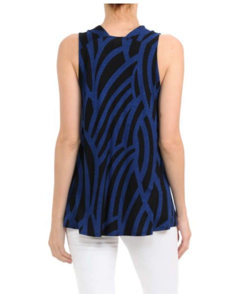 Curvy Road V-Neck Tank (3044CRV)