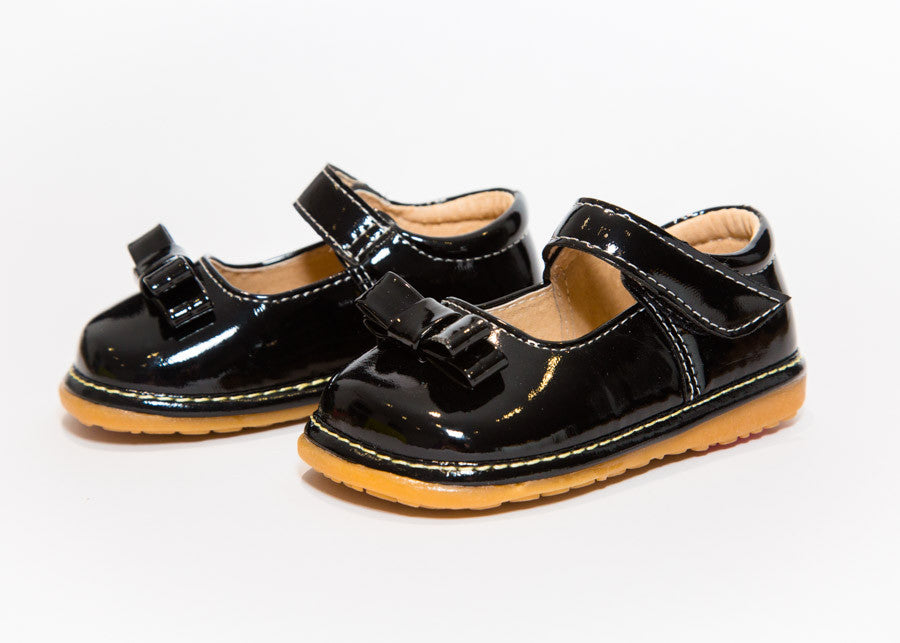 Black Patent Leather Squeaky Shoes