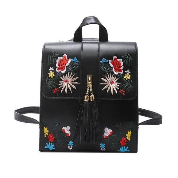 High Quality PU Embroidery Backpack - Cozy