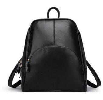 Leather backpack, schoolbag - Cozy