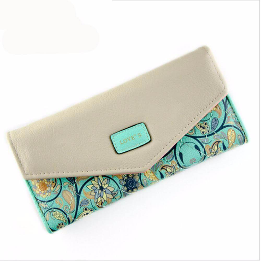 Long floral design wallet - Cozy