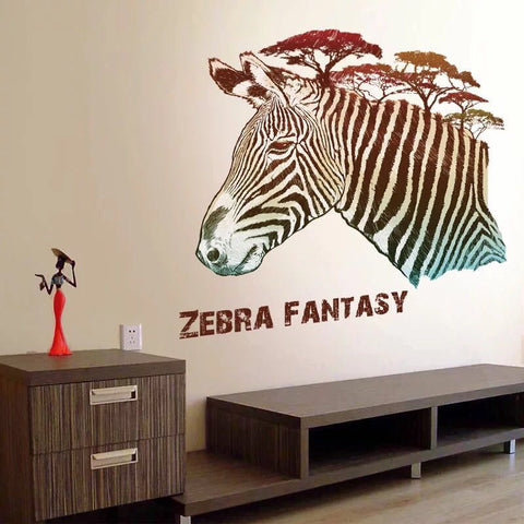 Zebra Fantasy Wall Decal