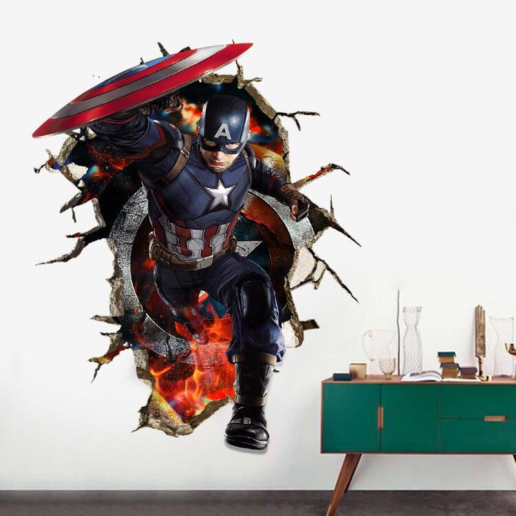 Captain America Wall Stickers